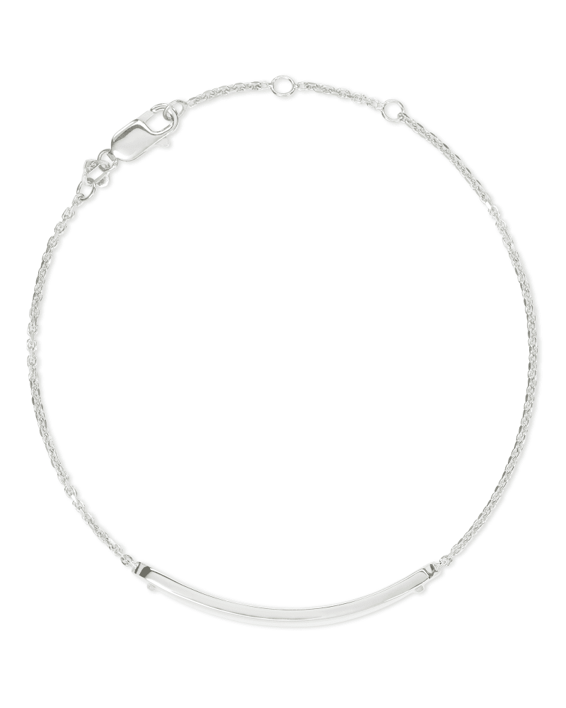 Mattie Bar Delicate Bracelet in Sterling Silver