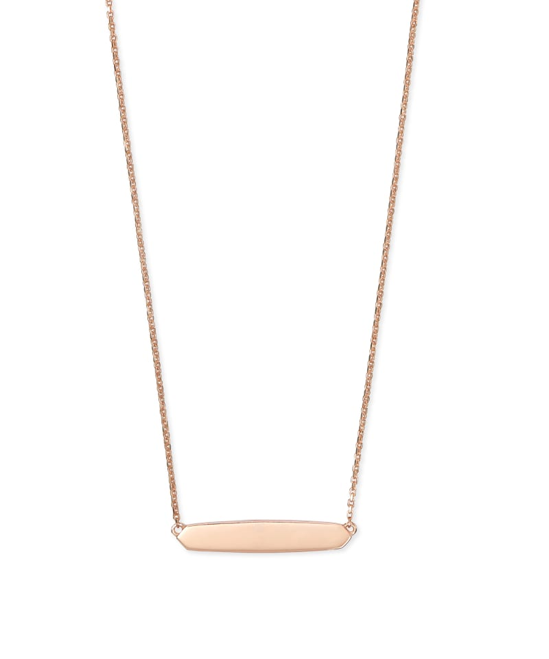 Mattie Bar Pendant Necklace in 18k Rose Gold Vermeil