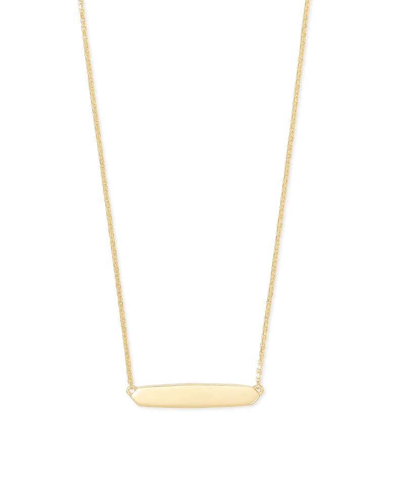 Mattie Bar Pendant Necklace in 18k Gold Vermeil