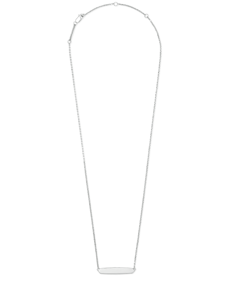 Mattie Bar Pendant Necklace in Sterling Silver
