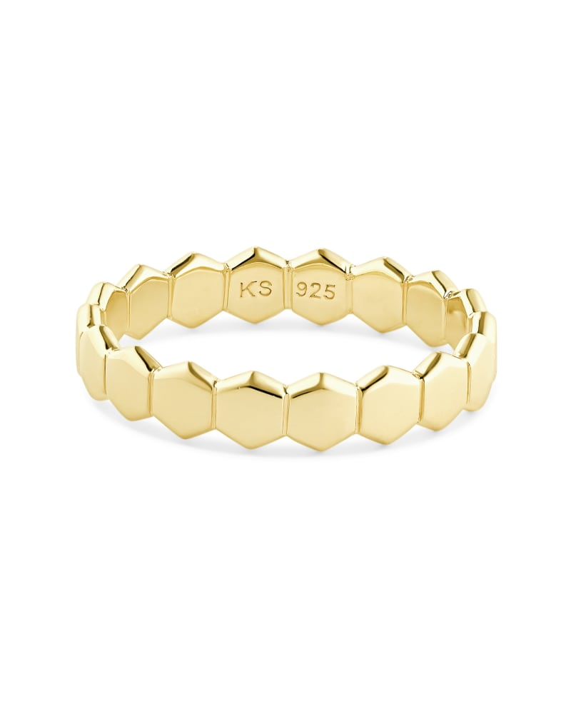 Davis Band Ring in 18k Yellow Gold Vermeil   Kendra Scott