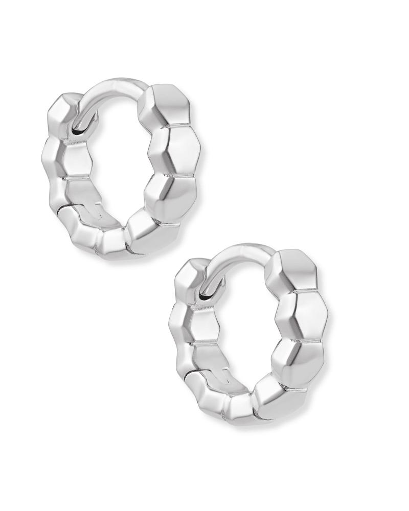 Davis Huggie Earrings in Sterling Silver