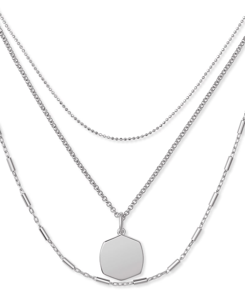 Davis Triple Strand Necklace in Sterling Silver