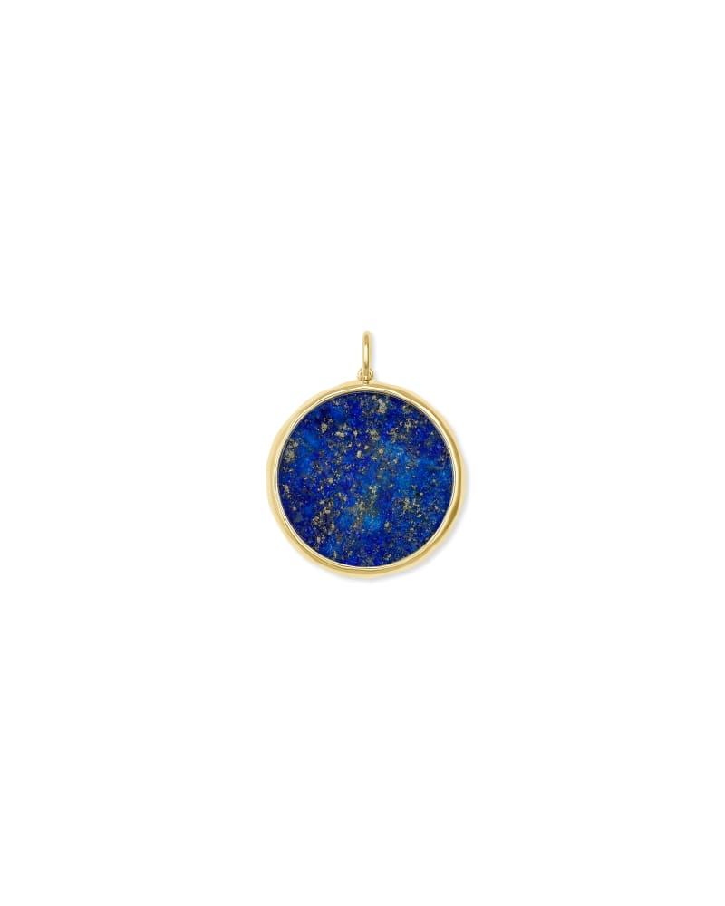 Medallion 18k Yellow Gold Vermeil Charm in Blue Lapis