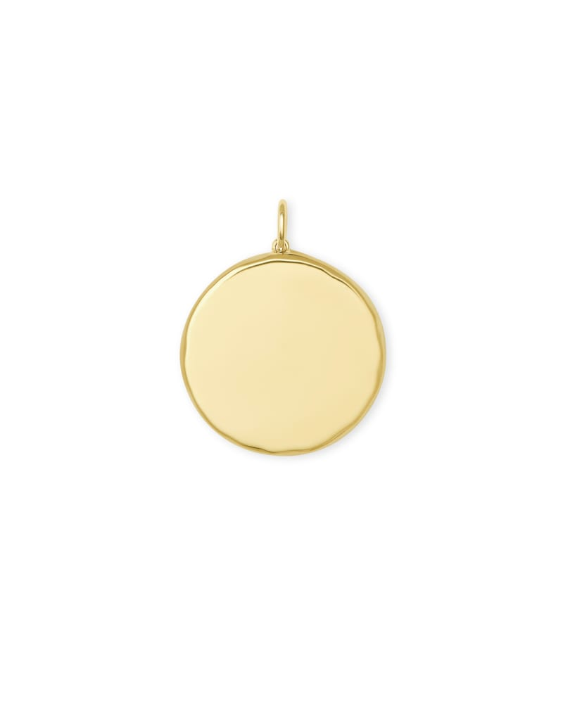 Medallion 18k Yellow Gold Vermeil Charm in Black Mother-of-Pearl