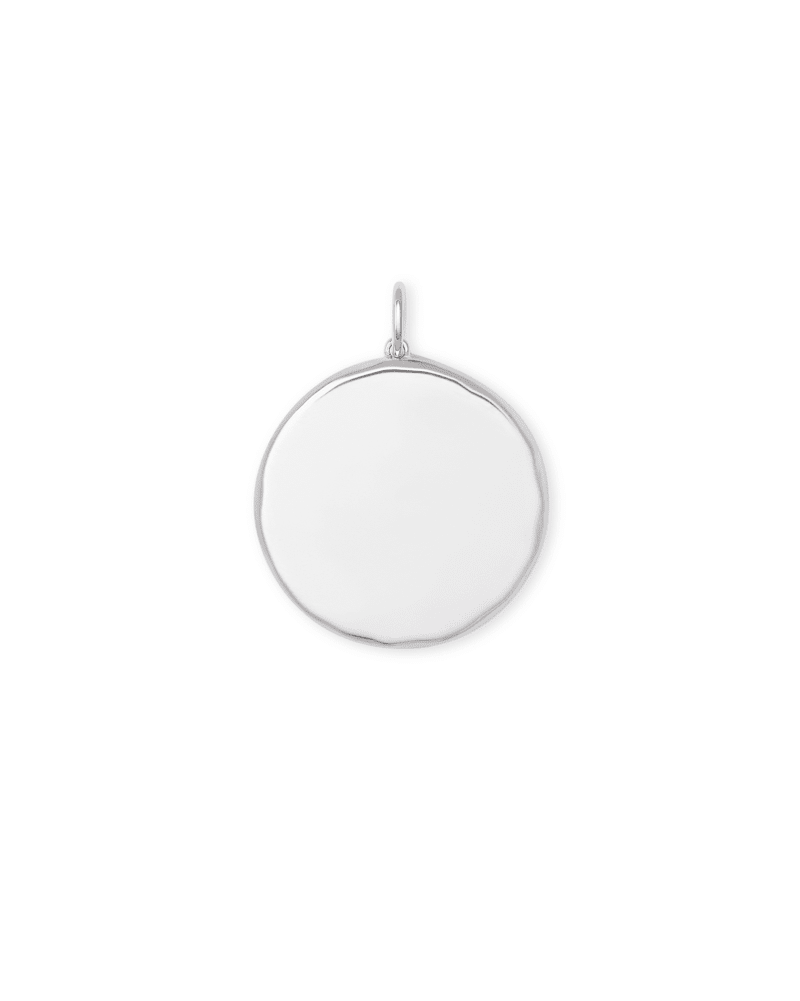 Medallion Sterling Silver Charm in Ivory Mother-of-Pearl