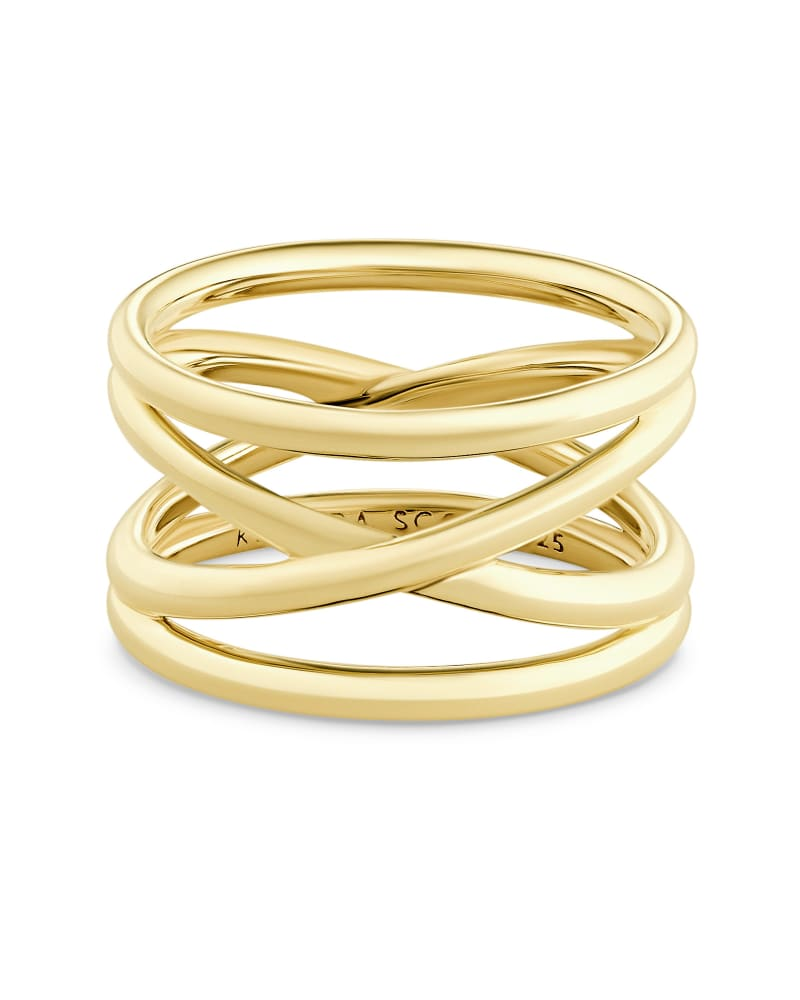 Sarah Band Ring in 18k Yellow Gold Vermeil
