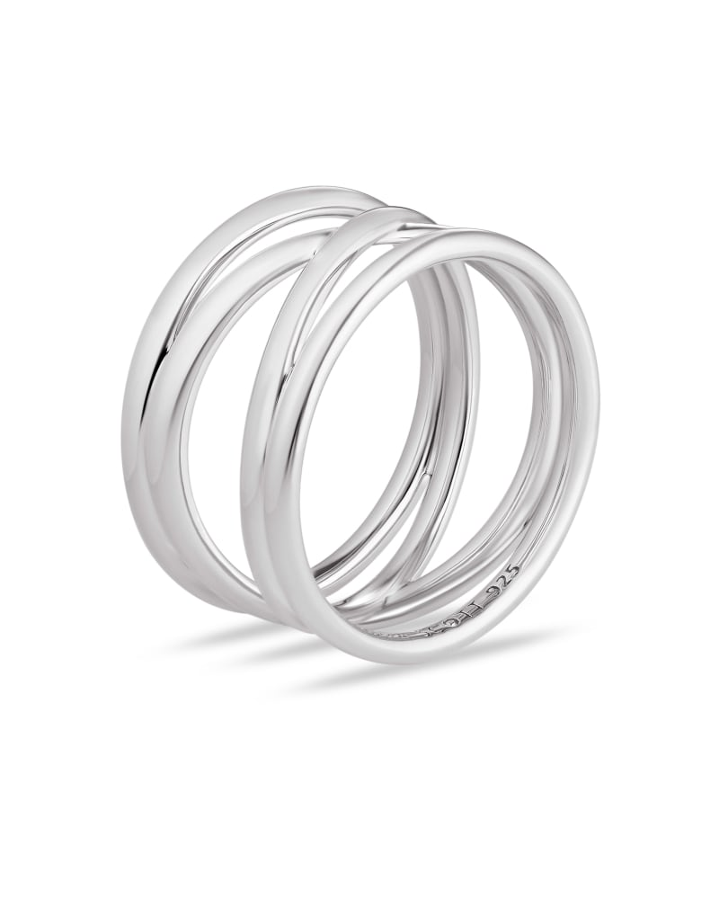 Sarah Band Ring in Sterling Silver