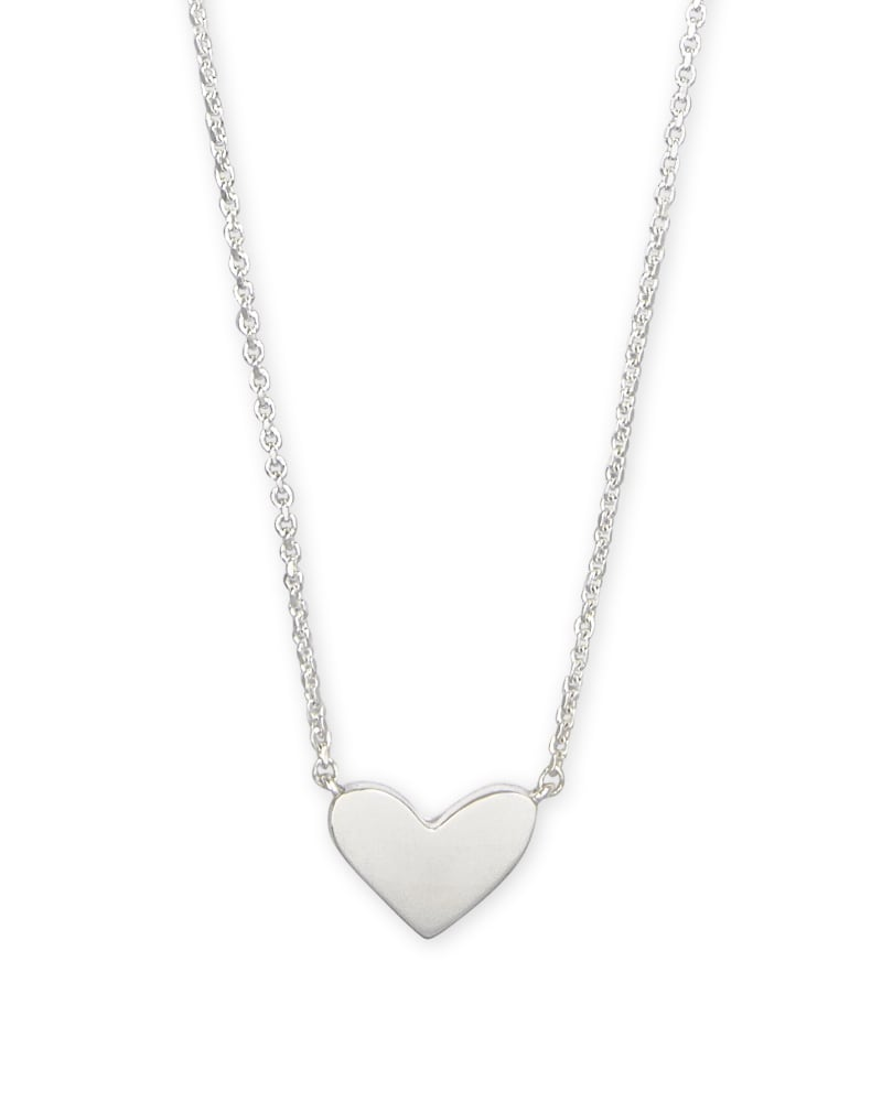 Ari Heart Pendant Necklace in Sterling Silver