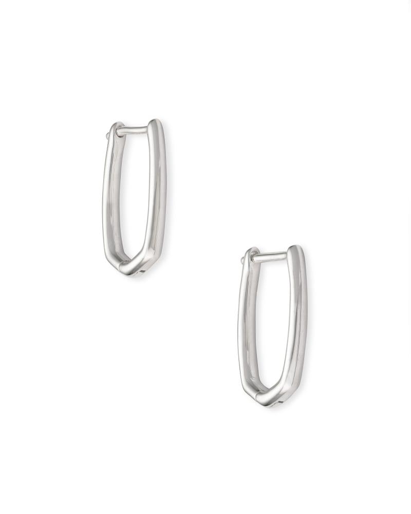 Ellen Huggie Earrings in Sterling Silver