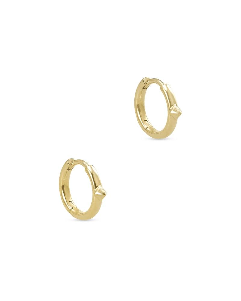 Cecilia Huggie Earrings in 18k Gold Vermeil