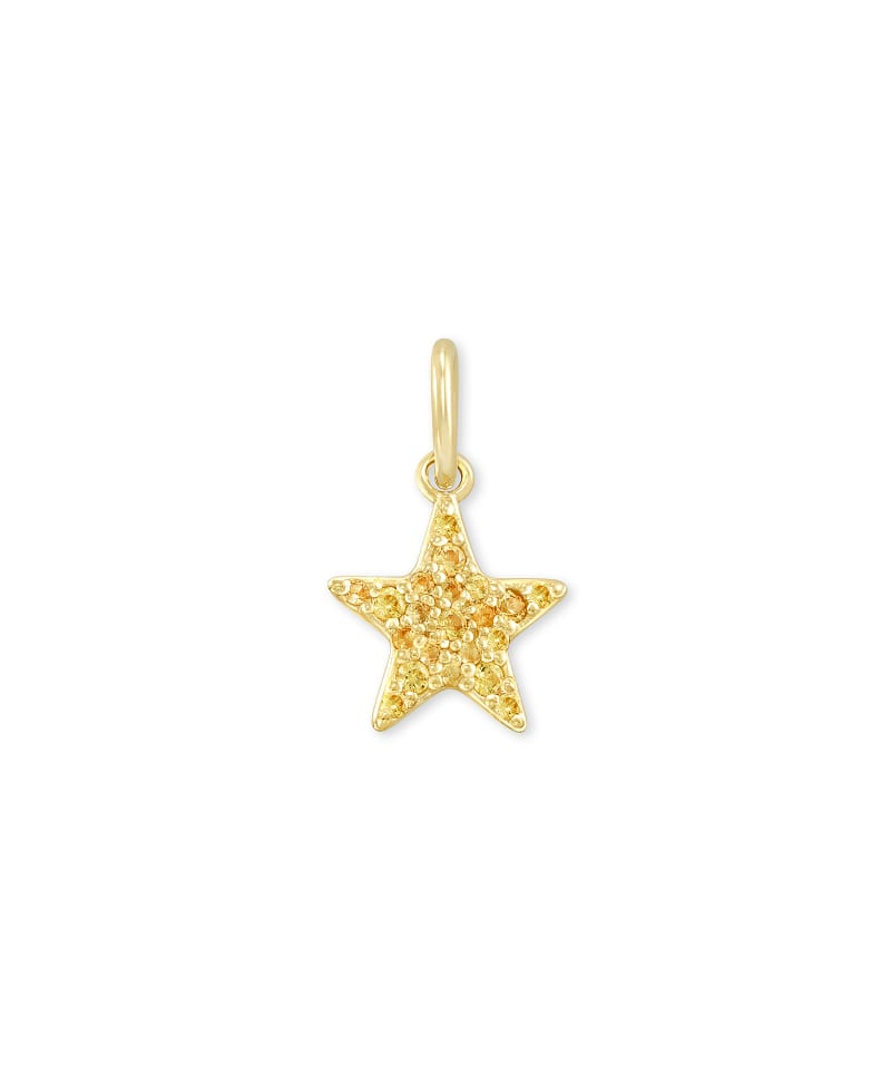 Folds Of Honor 18k Gold Vermeil Star Charm in Yellow Sapphire