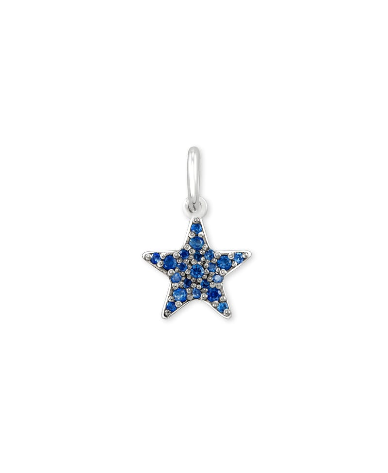 Folds Of Honor Sterling Silver Star Charm in Blue Sapphire