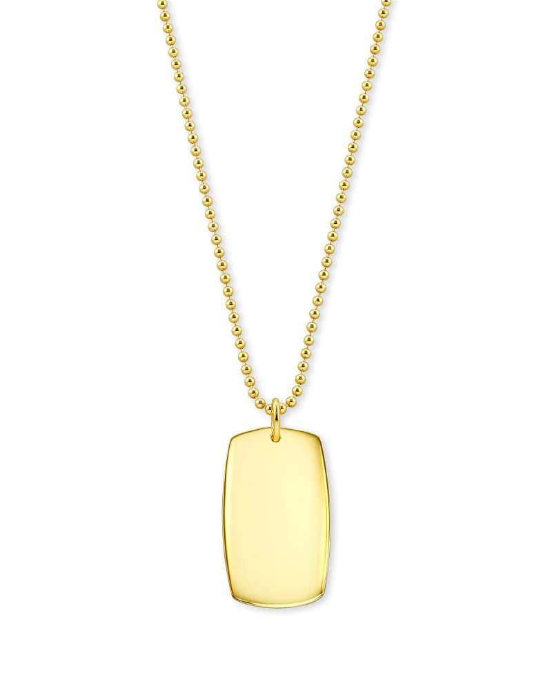 Folds Of Honor Pendant Necklace in 18k Gold Vermeil