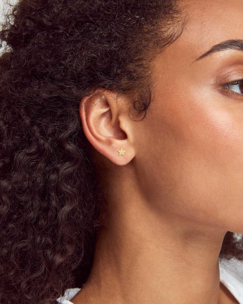 Jae Mini Stud Earring in 18k Gold Vermeil