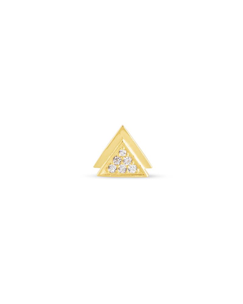 Alessia 18k Gold Vermeil Mini Stud Earring in White Topaz