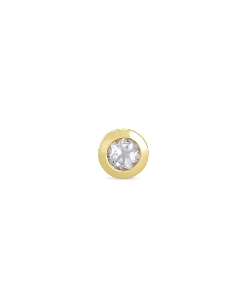 Aliyah 18k Gold Vermeil Mini Stud Earring in White Topaz
