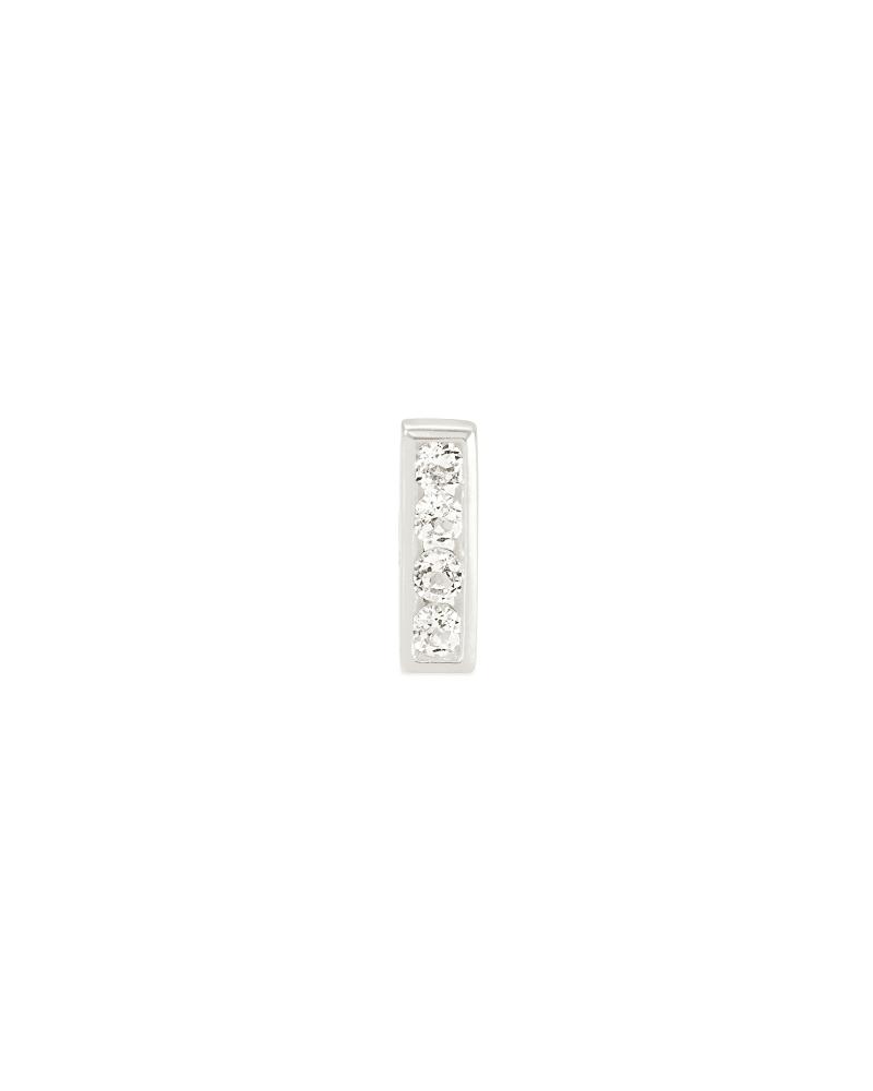 Ciera Sterling Silver Mini Stud Earring in White Topaz