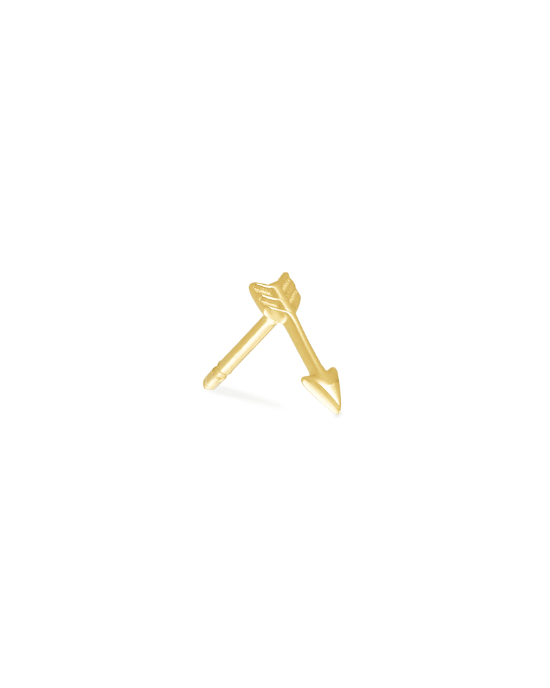 Zoey Mini Stud Earring in 18k Gold Vermeil