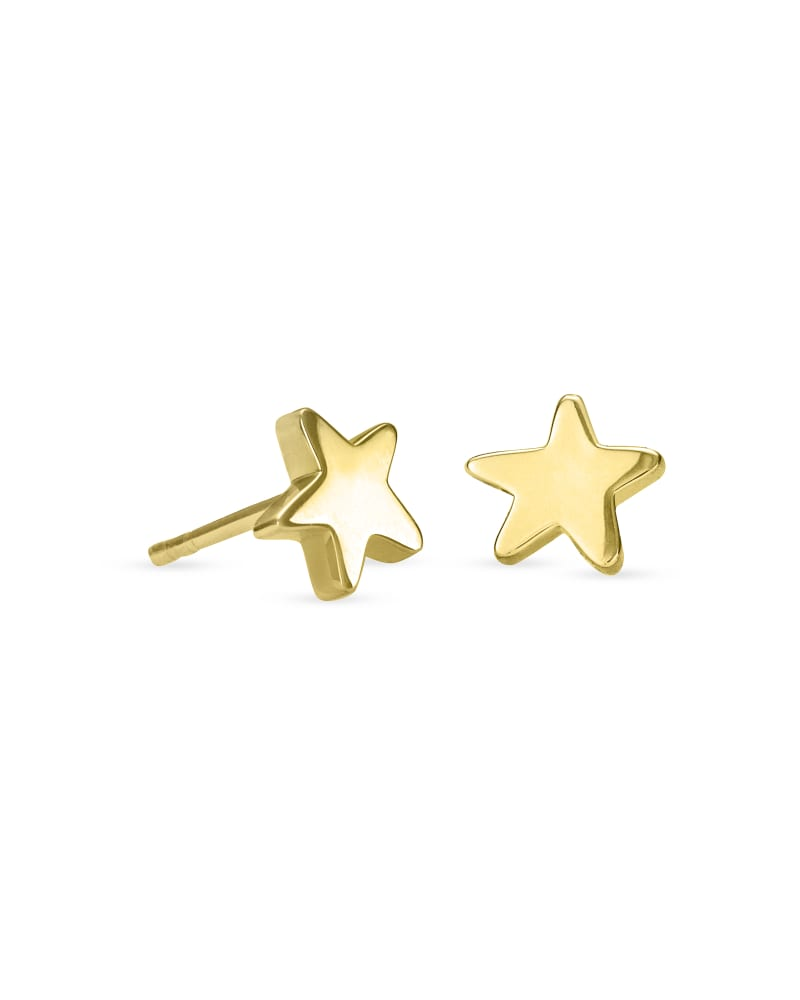 Jae Star Stud Earrings in 18k Gold Vermeil