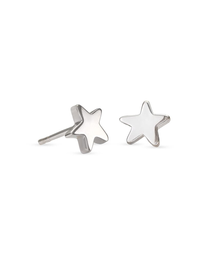 Jae Star Stud Earrings in Sterling Silver
