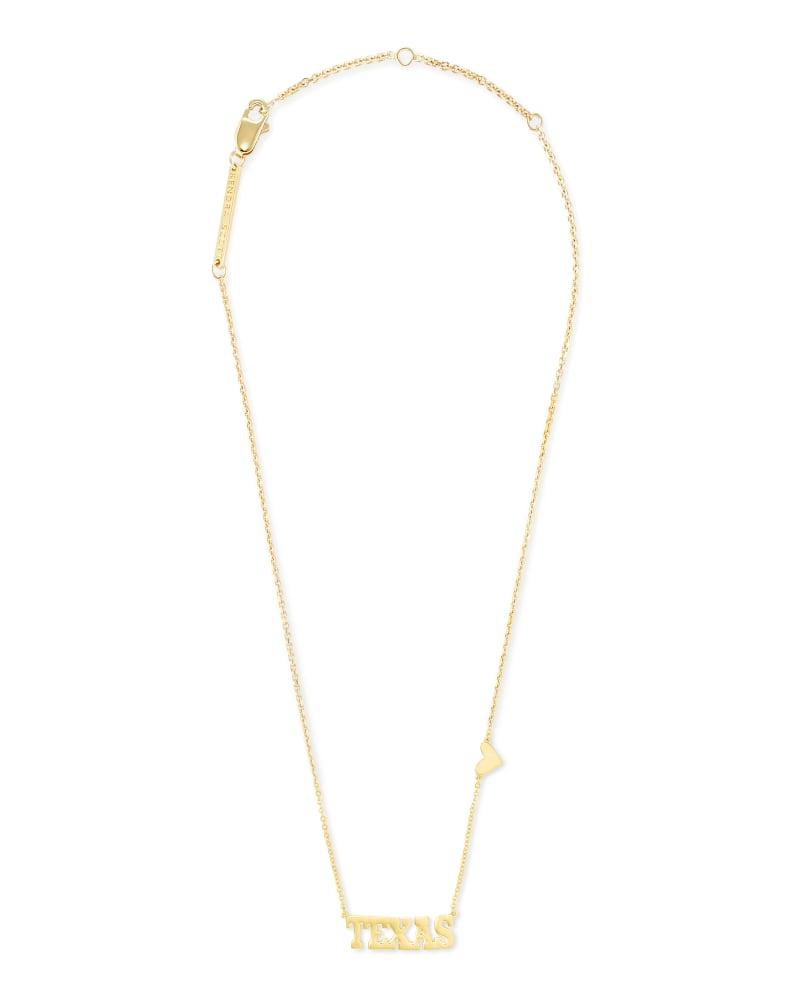 Texas Pendant Necklace in 18k Gold Vermeil