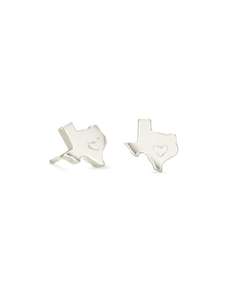 Texas Stud Earrings in Sterling Silver