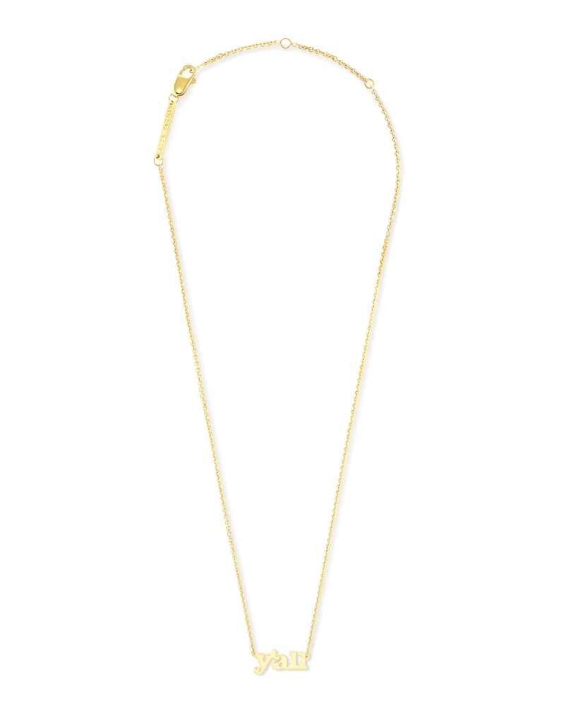 Y'all Pendant Necklace in 18k Gold Vermeil