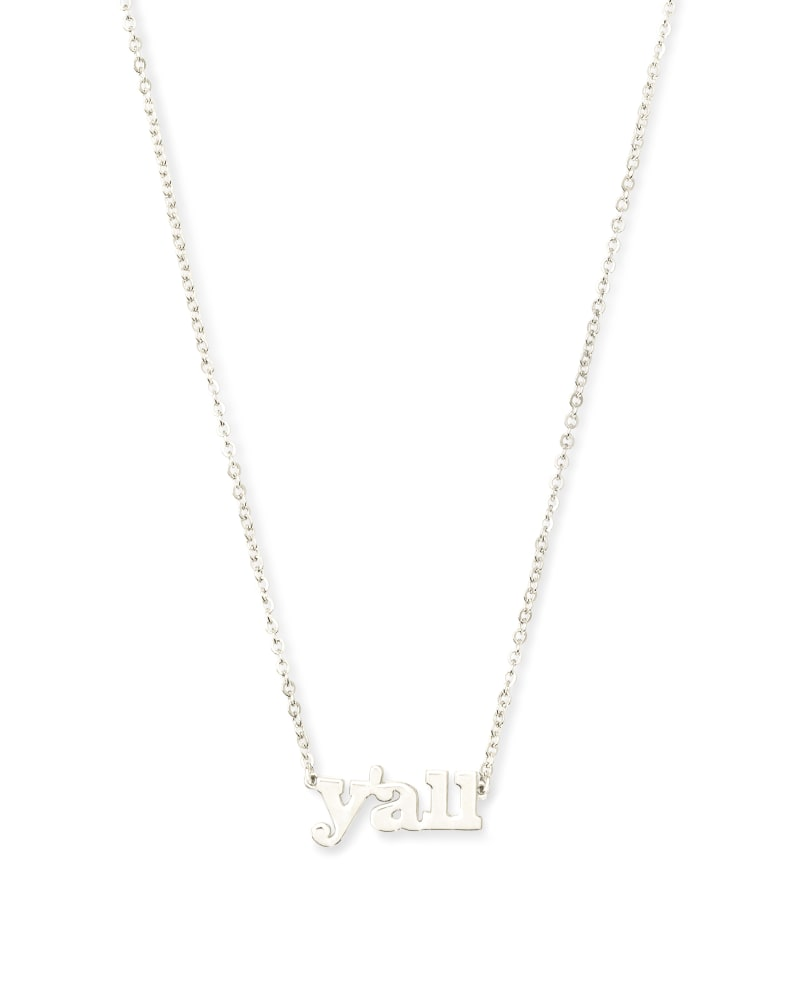 Y'all Pendant Necklace in Sterling Silver