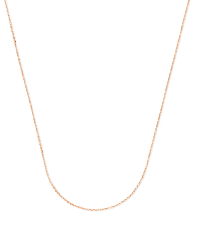 18 Inch Thin Chain Necklace in 18k Rose Gold Vermeil
