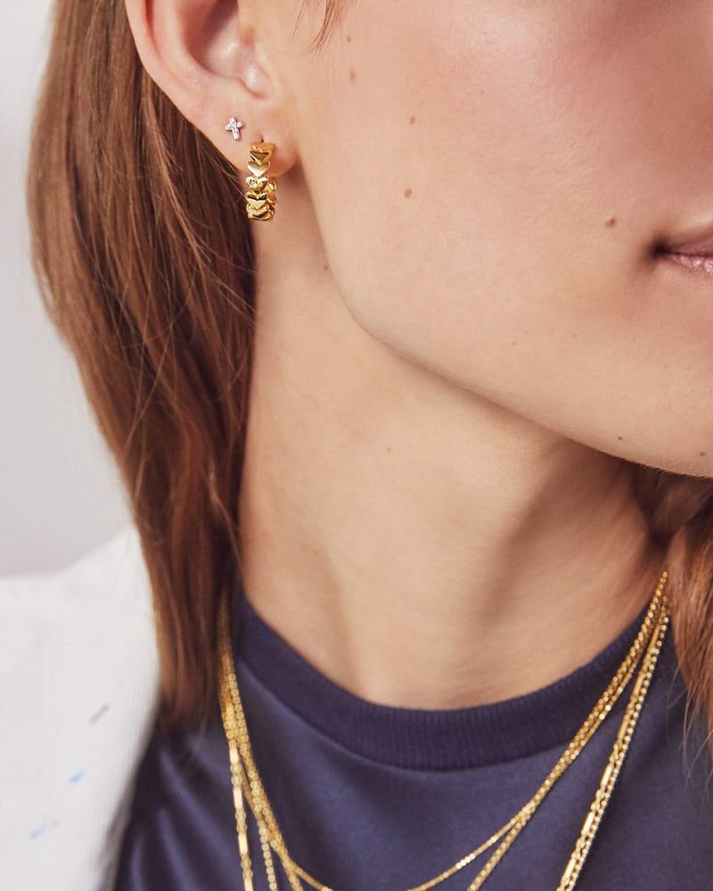 Angie Hoop Earrings in Sterling Silver