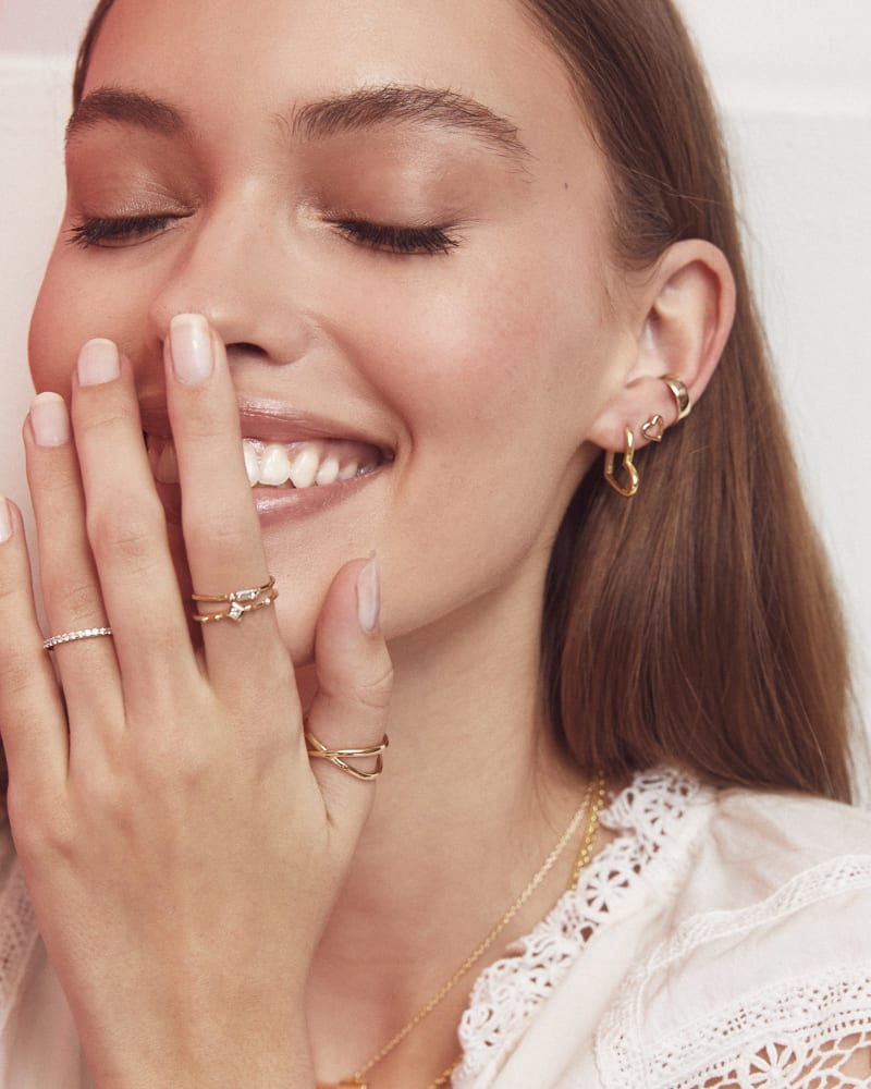 Ari Open Heart Hoop Earrings