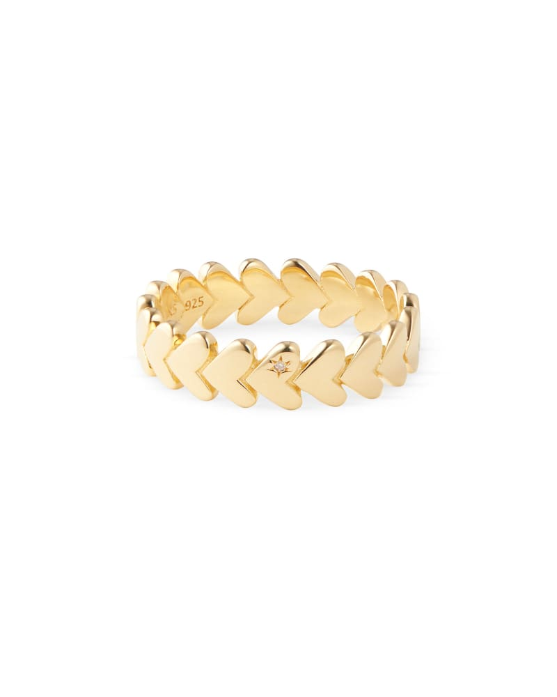 Angie Band Ring in 18k Yellow Gold Vermeil