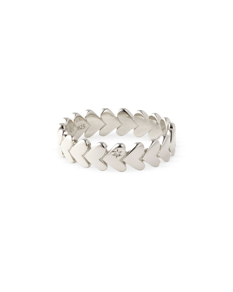 Angie Band Ring in Sterling Silver