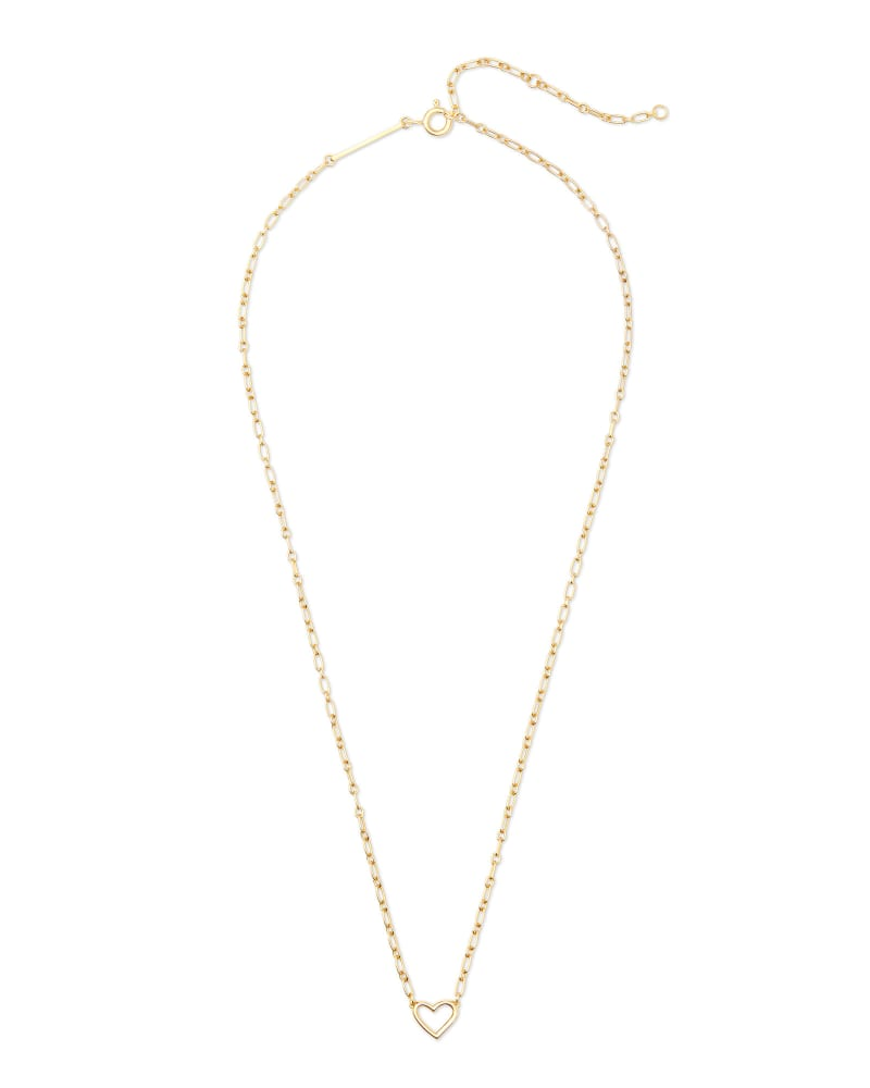 Angie Open Heart Pendant Necklace in 18k Yellow Gold Vermeil