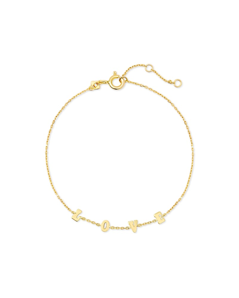 Love Delicate Chain Bracelet in 18k Yellow Gold Vermeil