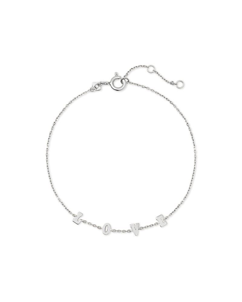Love Delicate Chain Bracelet in Sterling Silver