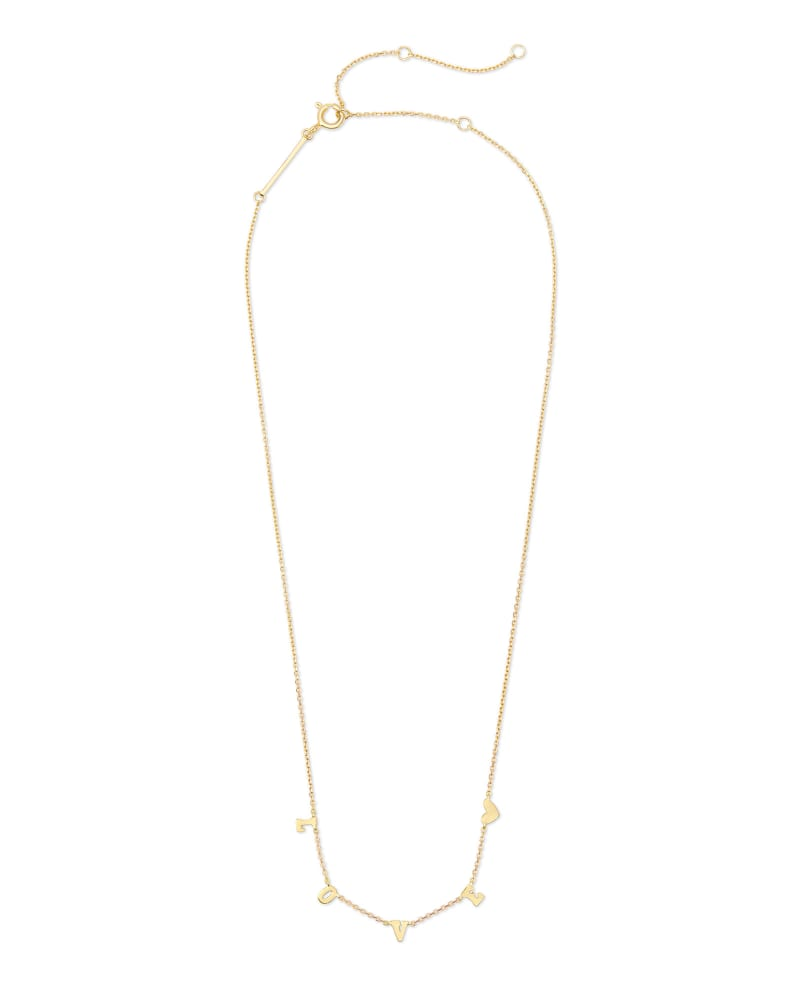 Love Strand Necklace in 18k Yellow Gold Vermeil