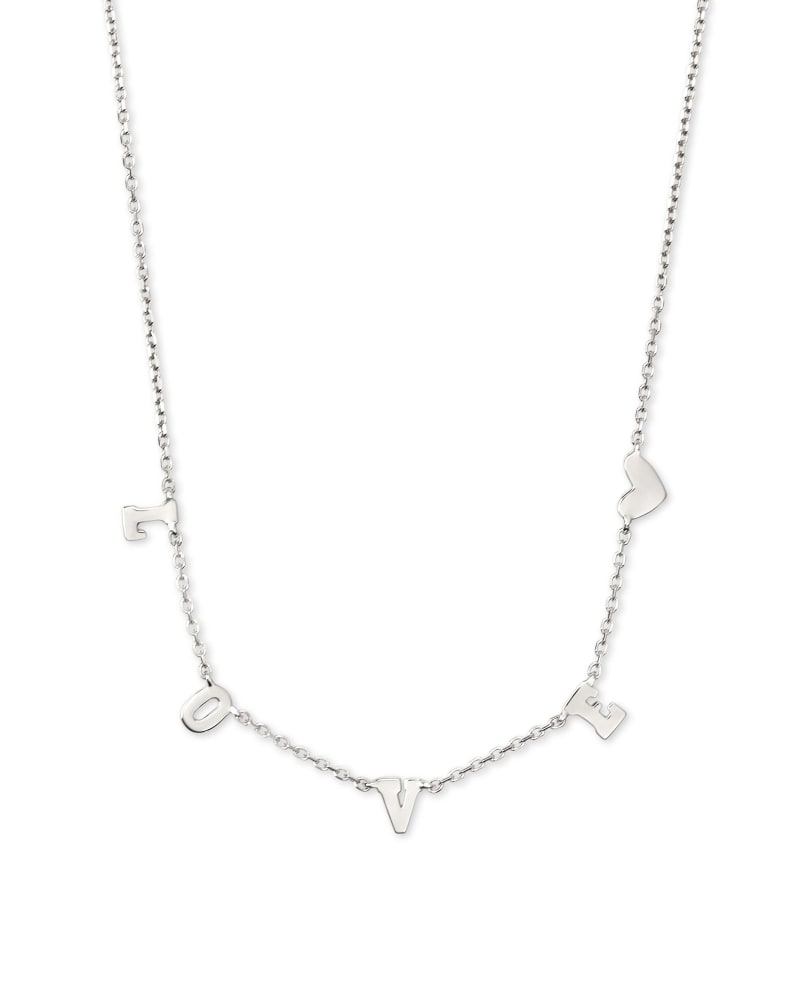 Love Strand Necklace in Sterling Silver