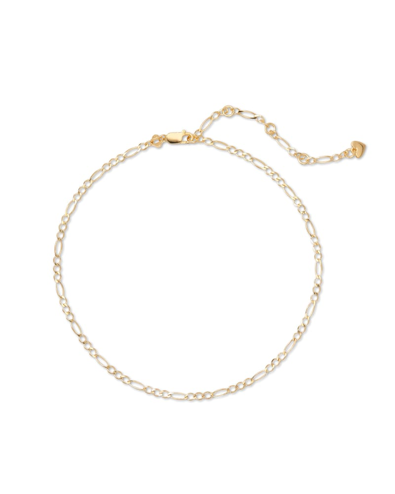 Rylie Anklet in 18k Yellow Gold Vermeil