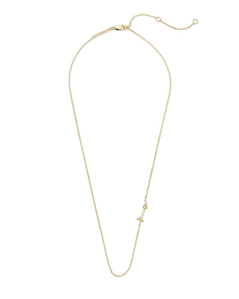 Zoey Arrow Choker Necklace in 18k Yellow Gold Vermeil