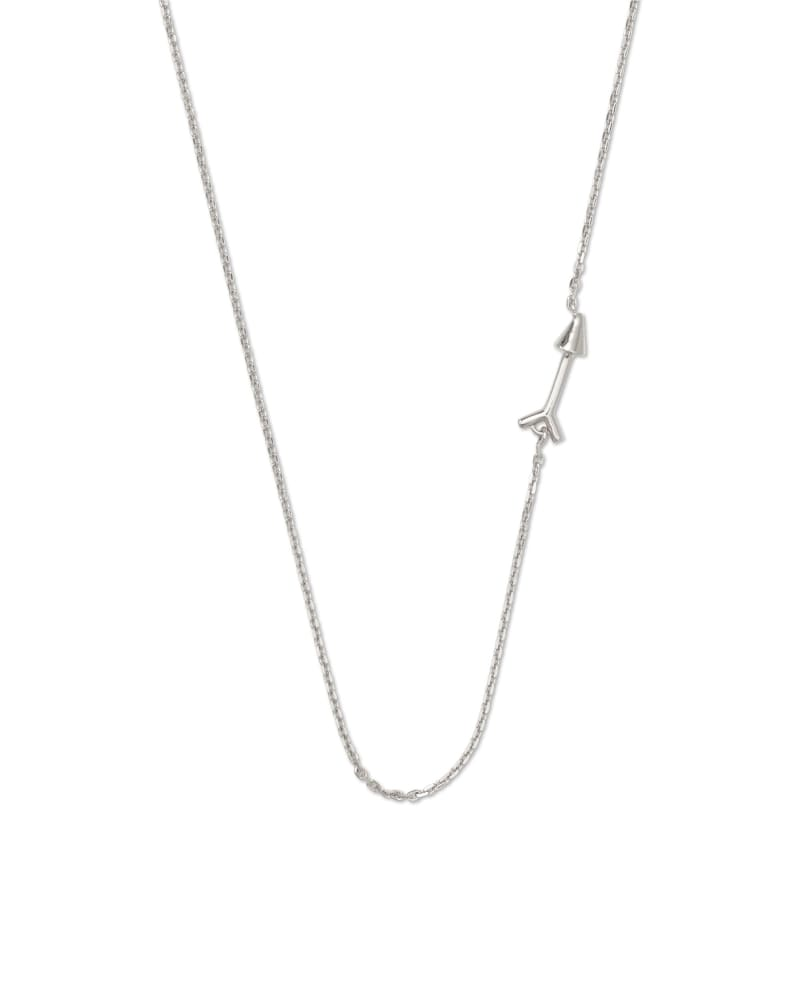 Zoey Arrow Choker Necklace in Sterling Silver