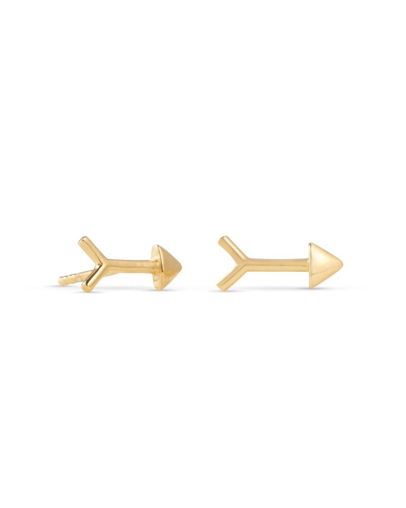 Zoey Arrow Stud Earrings in 18k Yellow Gold Vermeil