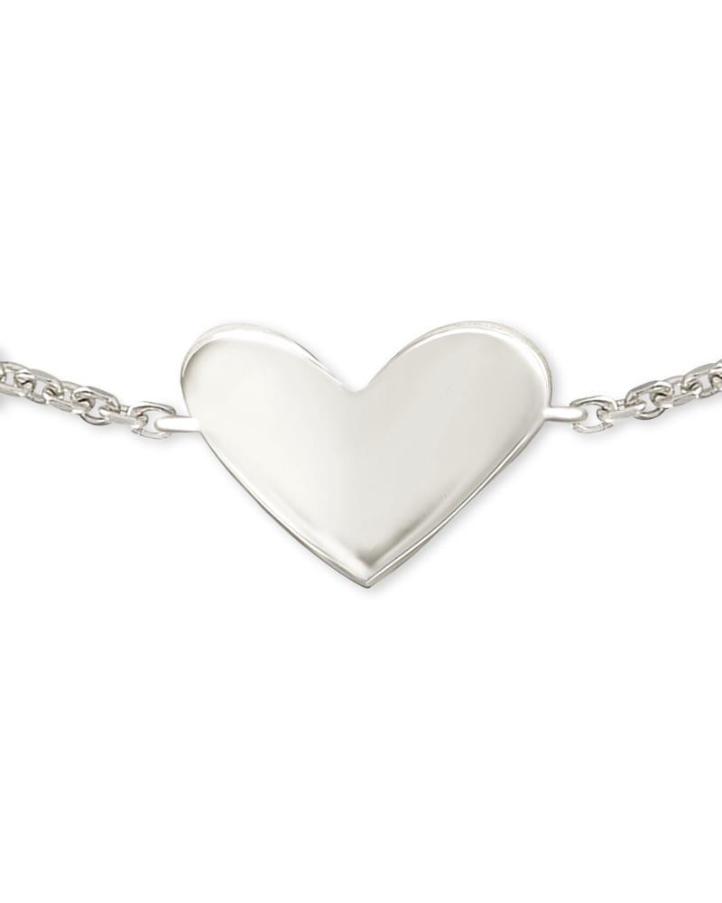 Ari Heart Delicate Chain Bracelet in Sterling Silver