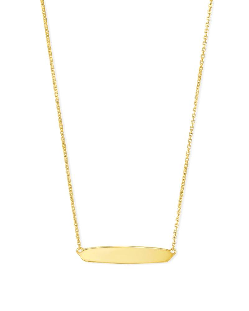 Optimist Mattie Bar Pendant Necklace in 18k Gold Vermeil