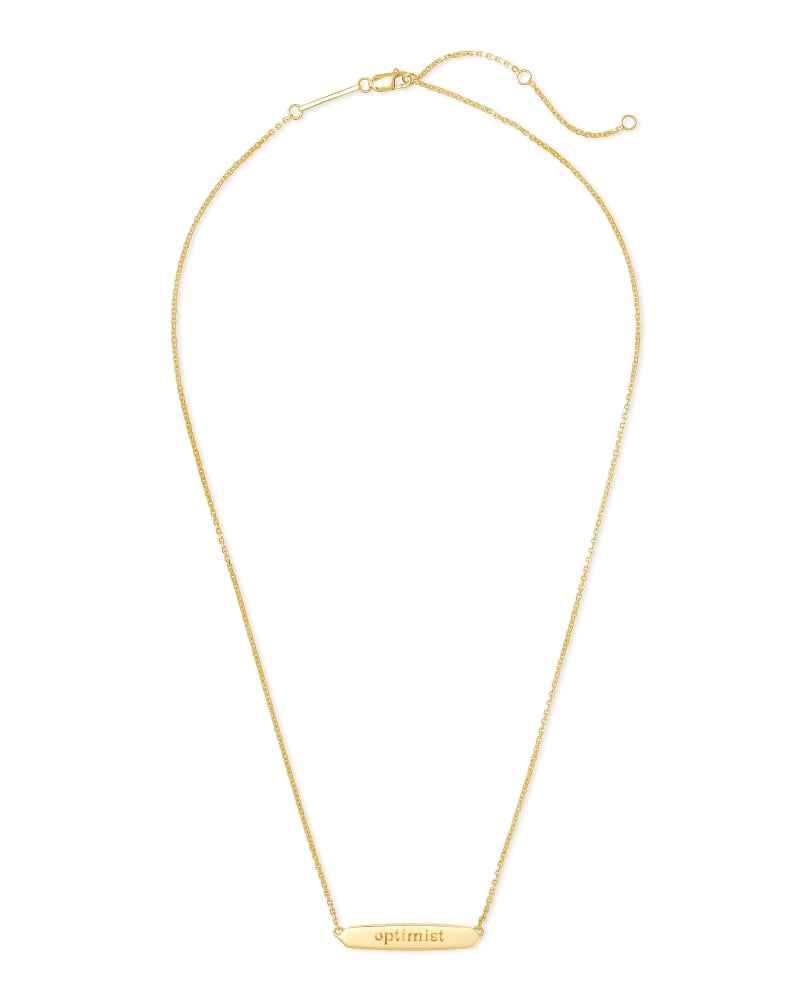 Optimist Mattie Bar Pendant Necklace in 18k Gold Vermeil