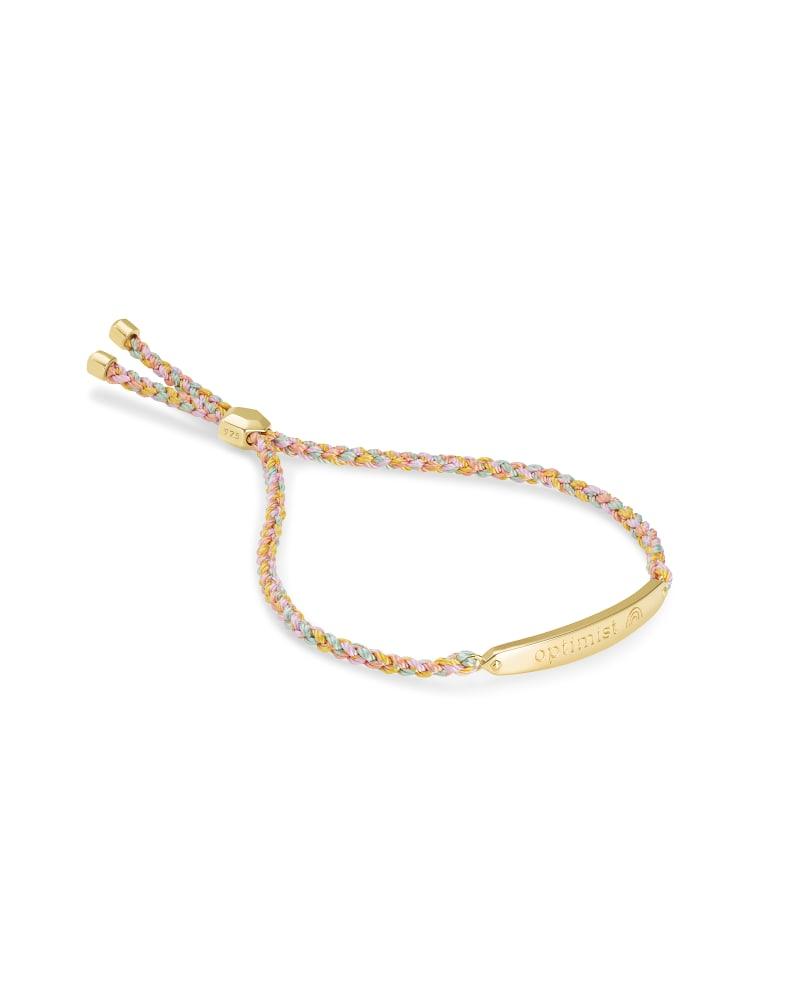 Optimist Mattie Bar Cord Bracelet in 18k Gold Vermeil