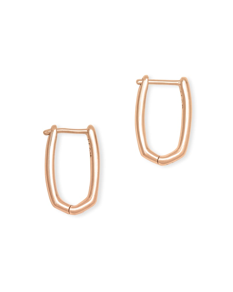 Ellen Huggie Earrings in 18k Rose Gold Vermeil
