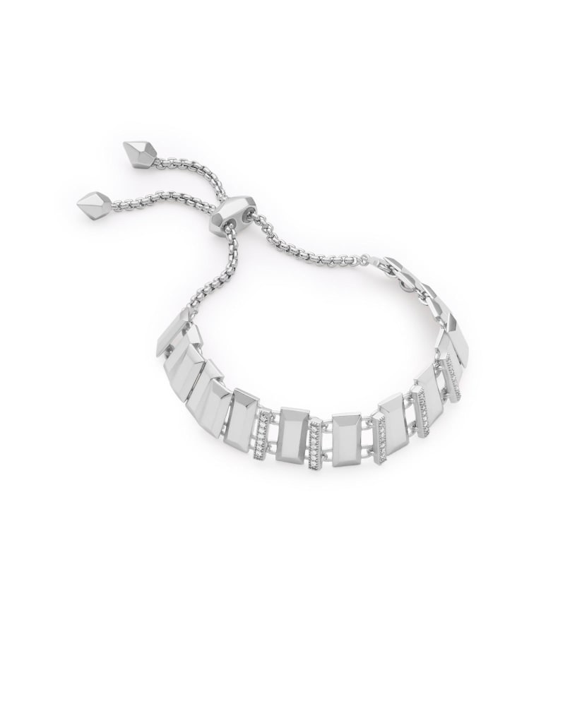 Harp Adjustable Chain Bracelet in Silver