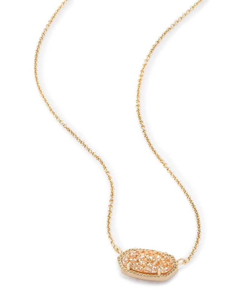 Elisa Pendant Necklace in Sand Drusy